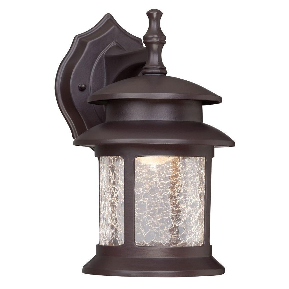 Fashionable Outdoor Vinyl Lanterns Regarding Westinghouse 1 Light Oil Rubbed Bronze Outdoor Integrated Led Wall (View 4 of 20)
