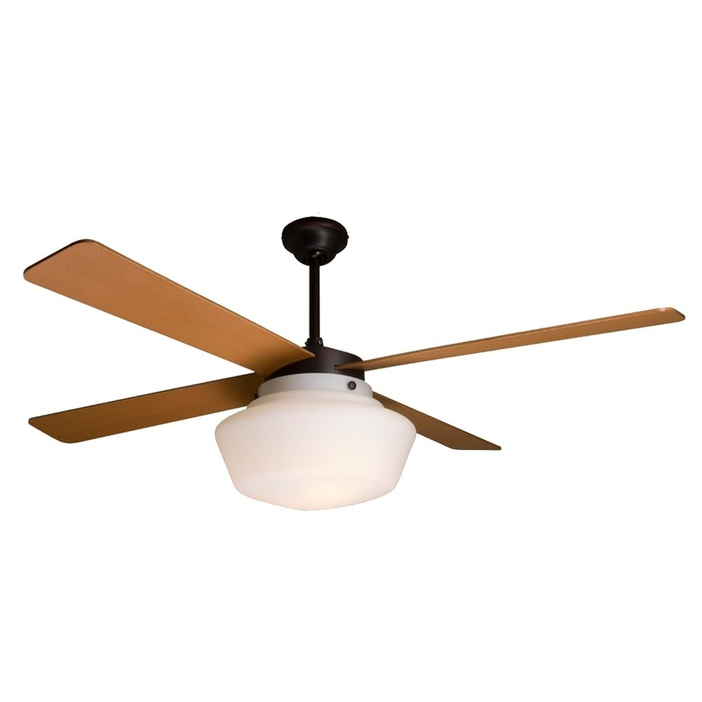 Fashionable Schoolhouse Ceiling Fan Rubbed Bronze Maple Blades – Eid Fans With Regard To Outdoor Ceiling Fans With Schoolhouse Light (View 3 of 20)