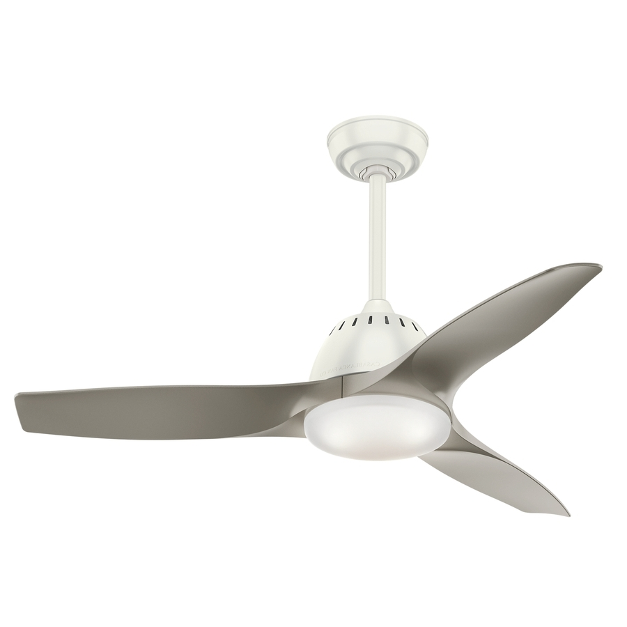 Fashionable Shop Casablanca Wisp Led 44 In Fresh White Led Indoor Ceiling Fan With Casablanca Outdoor Ceiling Fans With Lights (View 15 of 20)