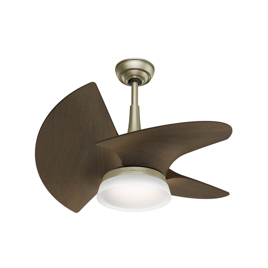 Fashionable Small Outdoor Ceiling Fans With Lights In Shop Casablanca Orchid Led 30 In Pewter Revival Led Indoor/outdoor (View 15 of 20)