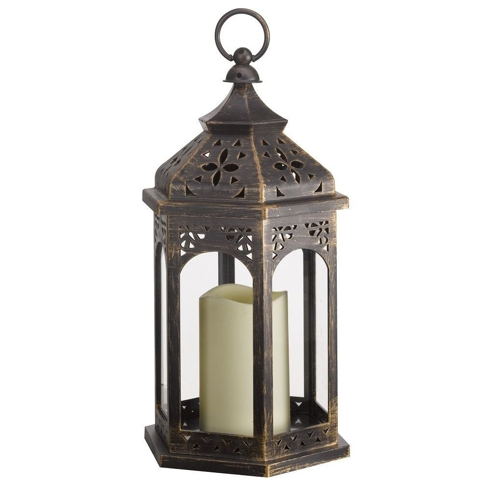 Fashionable Smart Garden Electric Moroccan Lantern Throughout Moroccan Outdoor Electric Lanterns (View 6 of 20)