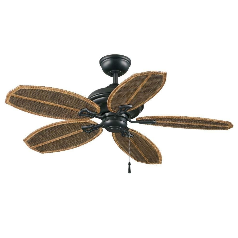Fashionable Wicker Outdoor Ceiling Fans With Lights Regarding Hampton Bay 48 In (View 6 of 20)