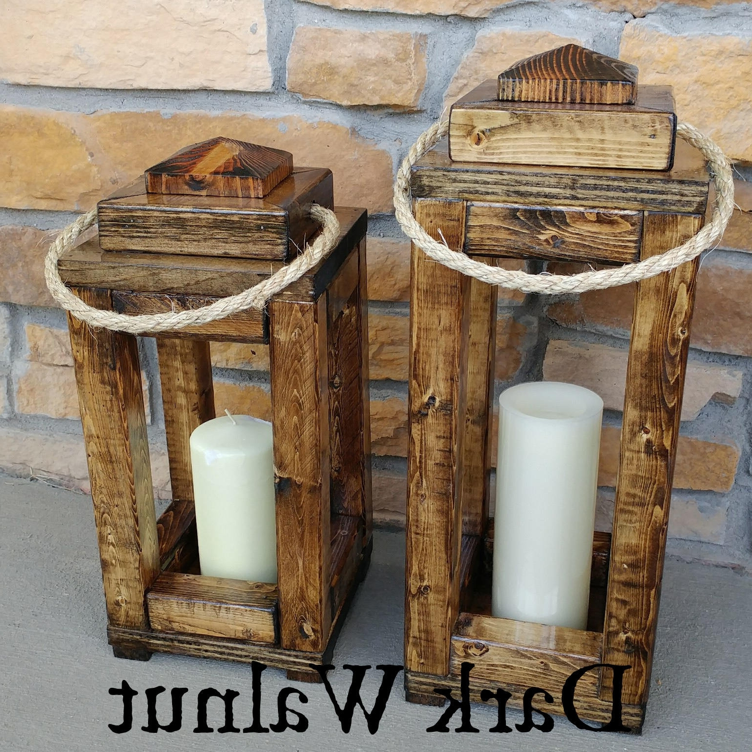 Favorite Distressed Wood Candle Holders Beautiful Wood Indoor Outdoor Intended For Indoor Outdoor Lanterns (View 5 of 20)
