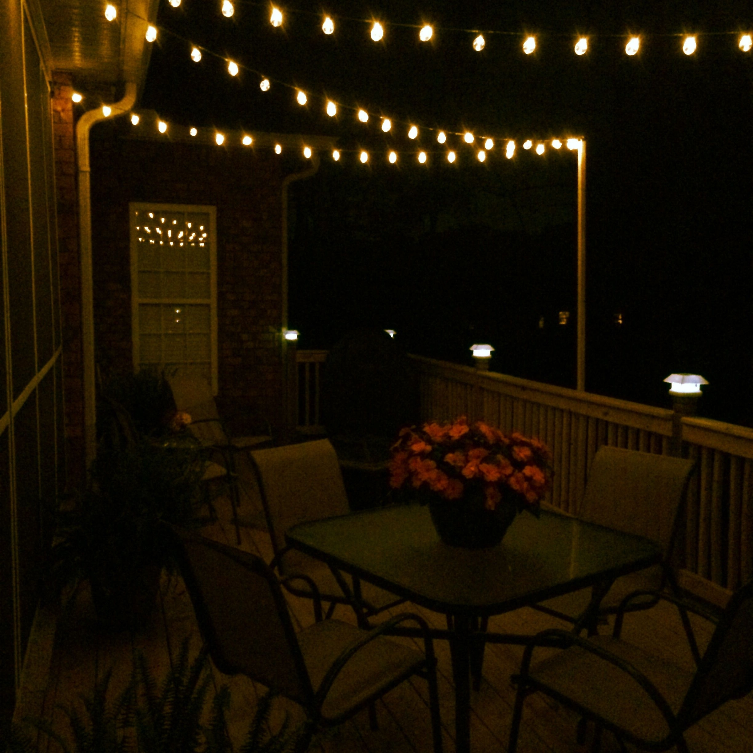Favorite Diy Deck Lighting Using Wooden Poles And S Hooks (View 4 of 20)
