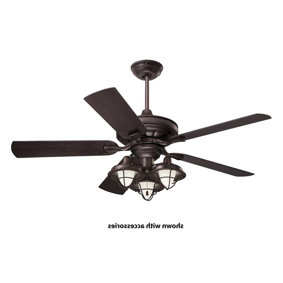 Favorite Extraordinary Black Outdoor Ceiling Fan With Light Flush Mount Inside Black Outdoor Ceiling Fans (View 14 of 20)