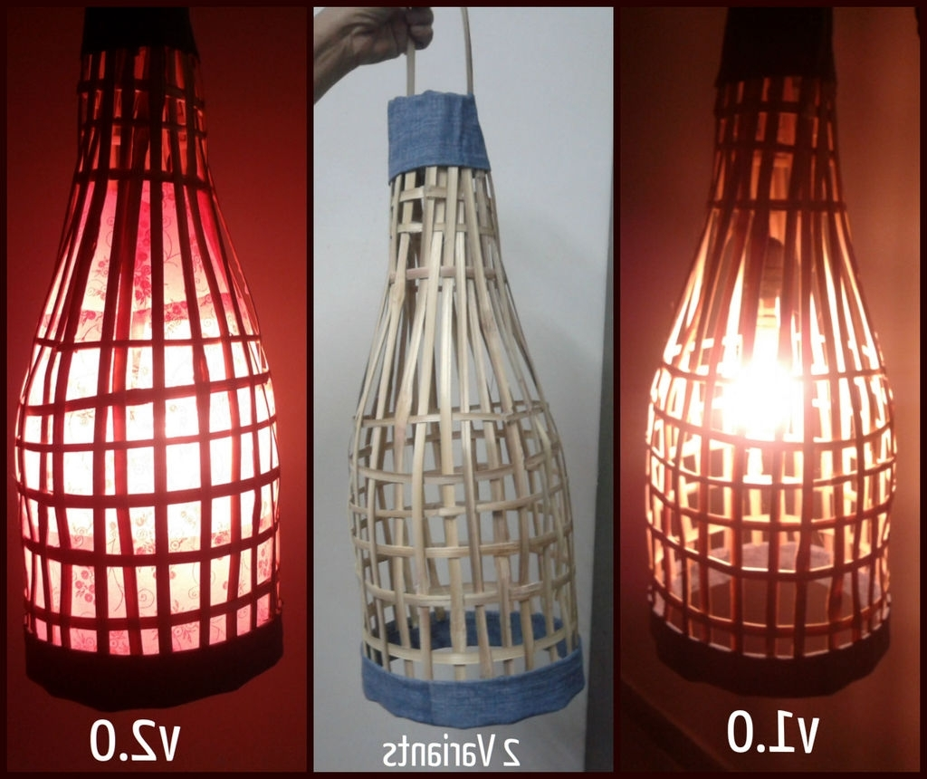 Favorite Handmade Bamboo Lantern. Using Old Bamboo Blinds (View 11 of 20)
