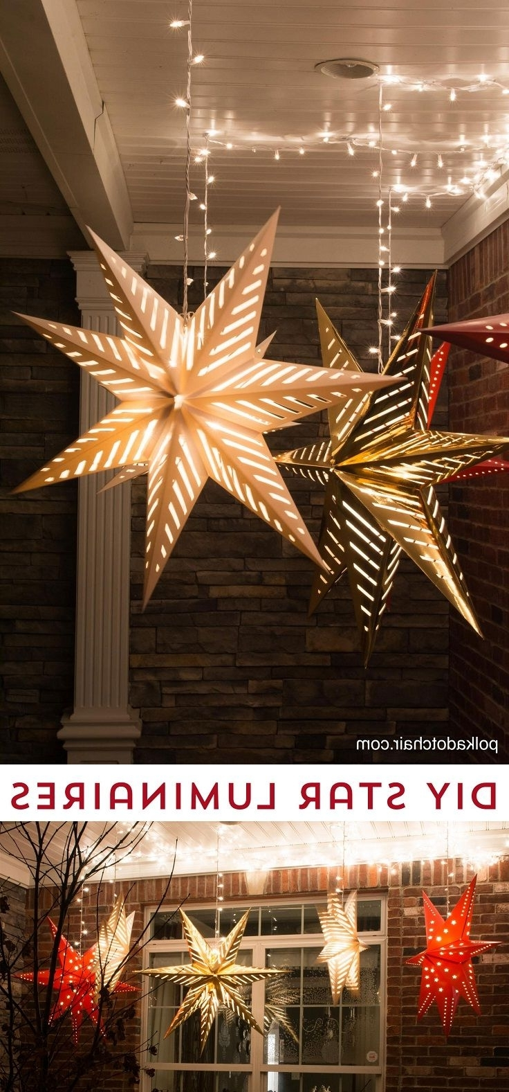 Favorite Hanging Star Lanterns – Christmas Front Porch Decor Idea – 13 For Outdoor Lanterns For Christmas (View 11 of 20)