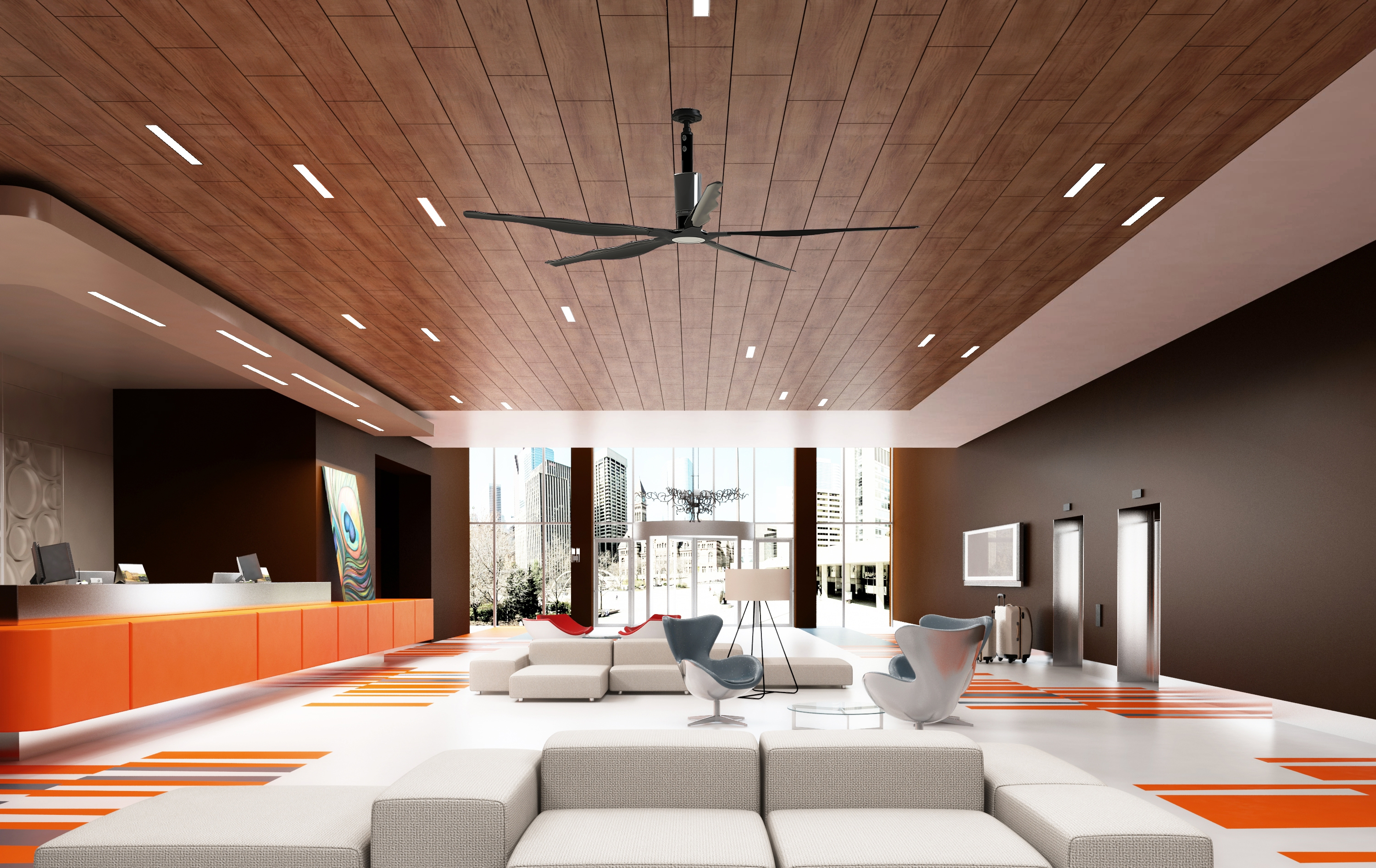Favorite High Volume Outdoor Ceiling Fans Pertaining To Hvls Fans And Turbines (View 4 of 20)