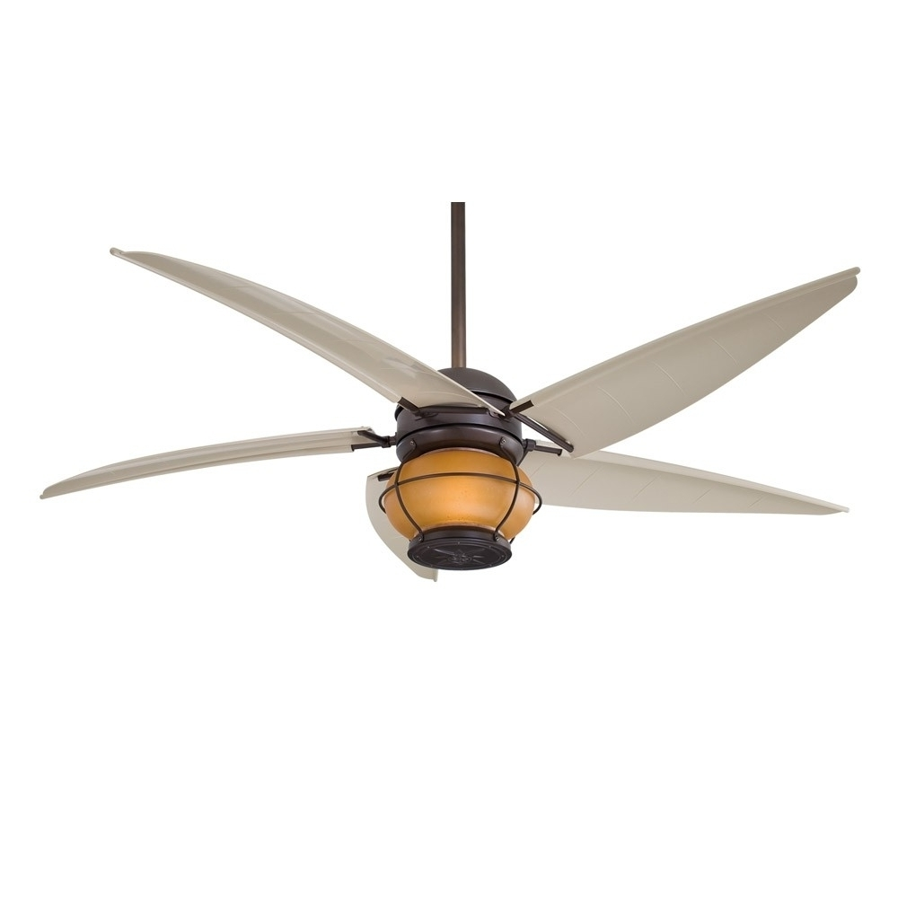 Favorite Minka Outdoor Ceiling Fans With Lights With Ceiling Fans With Lights : Minka Aire Magellan F579 L Bnw, Outdoor (View 11 of 20)