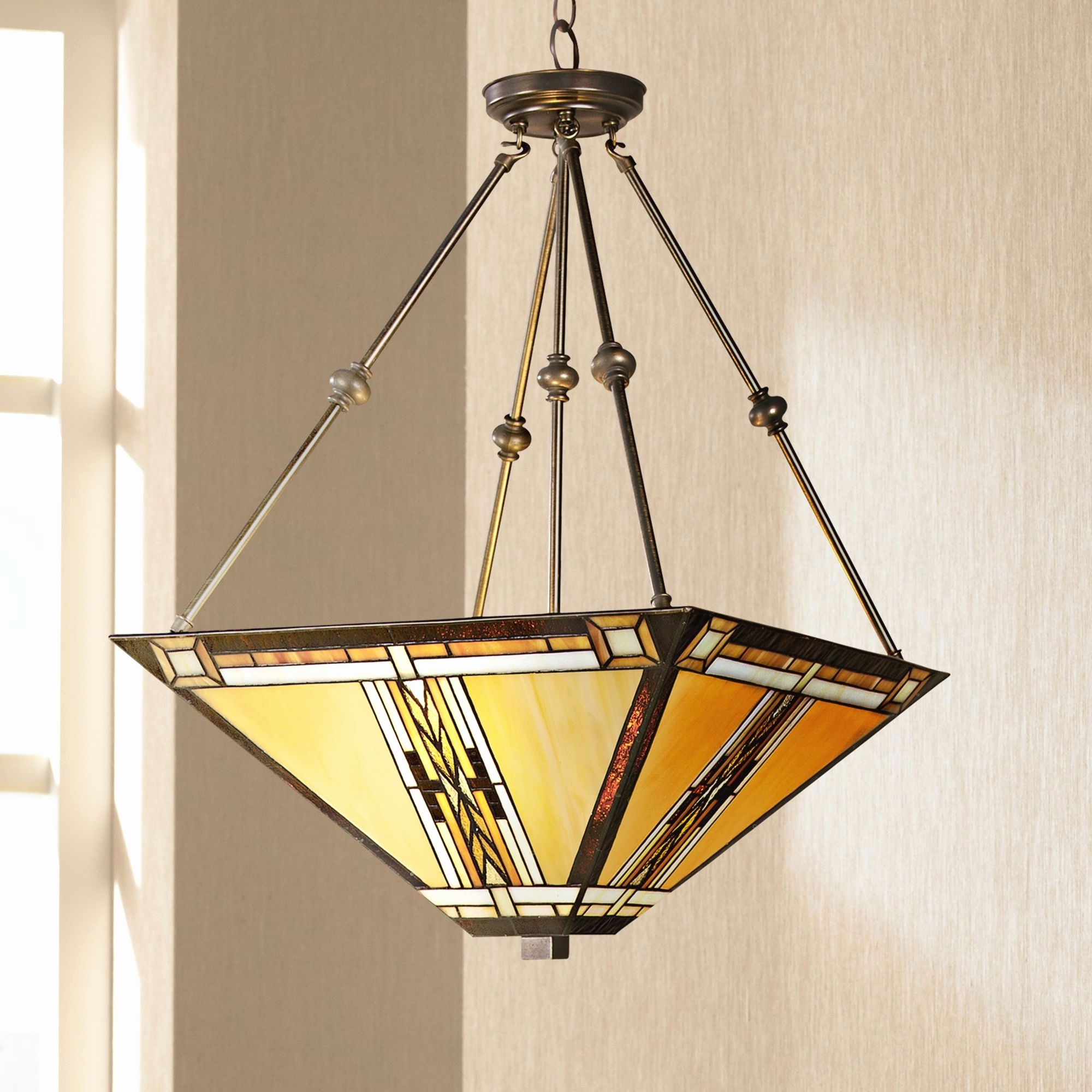 Favorite Mission Style Ceiling Lights Fans With Mini Pendant Outdoor Flush Pertaining To Mission Style Outdoor Ceiling Fans With Lights (View 9 of 20)