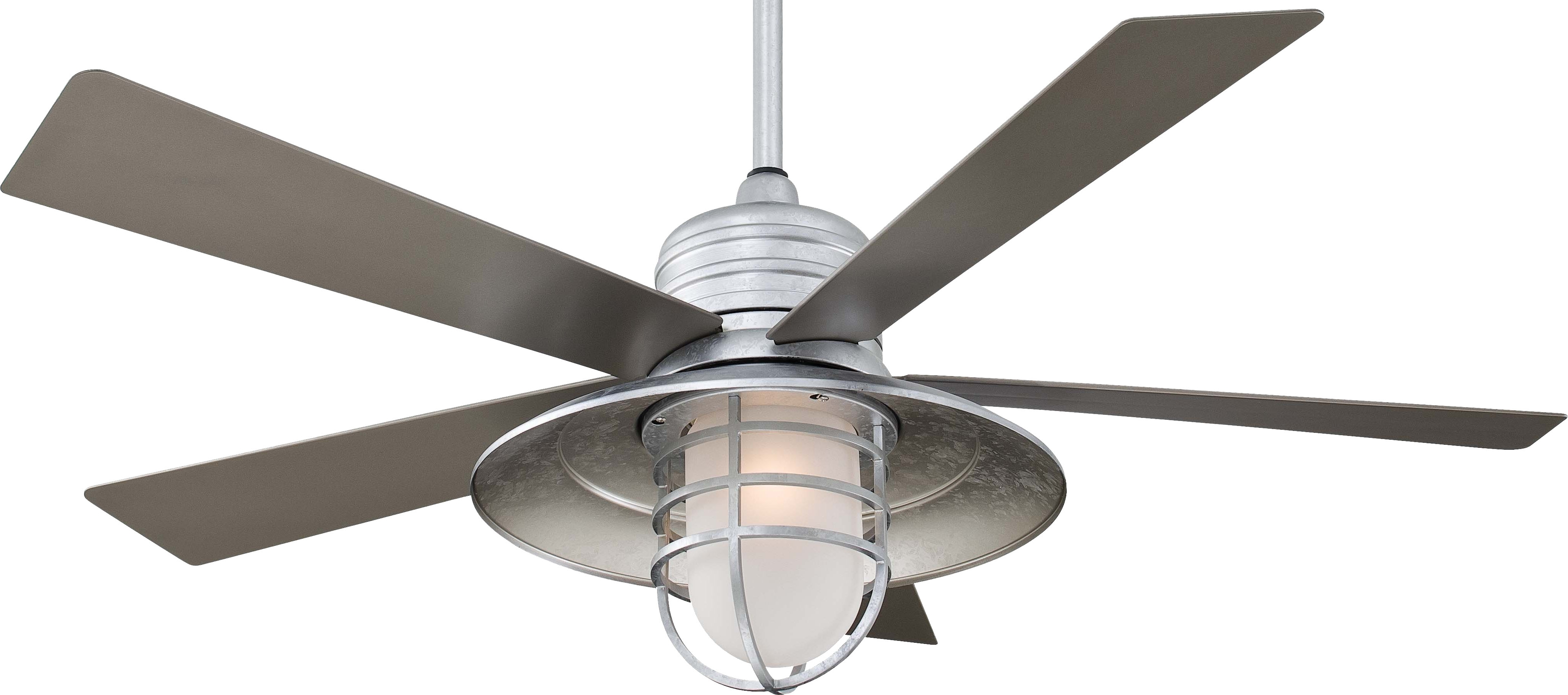 Favorite Outdoor Ceiling Fans With Galvanized Blades With Regard To Mid Century Galvanized Ceiling Fan Light Kit Modern Tray Definition (View 6 of 20)