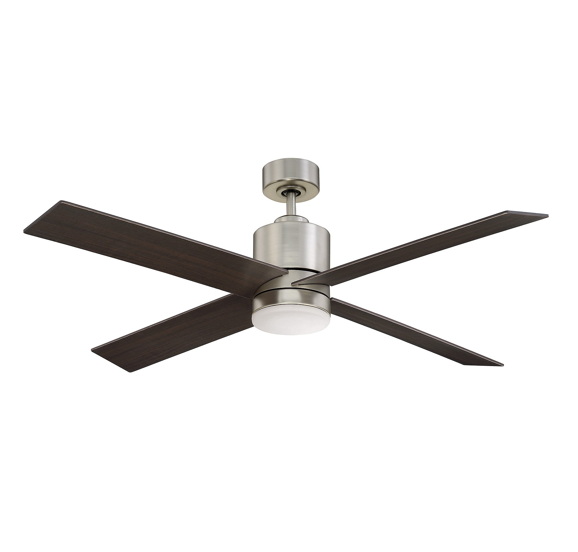Favorite Outdoor Ceiling Fans With Metal Blades Inside 52 6110 4Cn Sn Dayton 52 Inch 4 Blade Ceiling Fansavoy House (View 3 of 20)