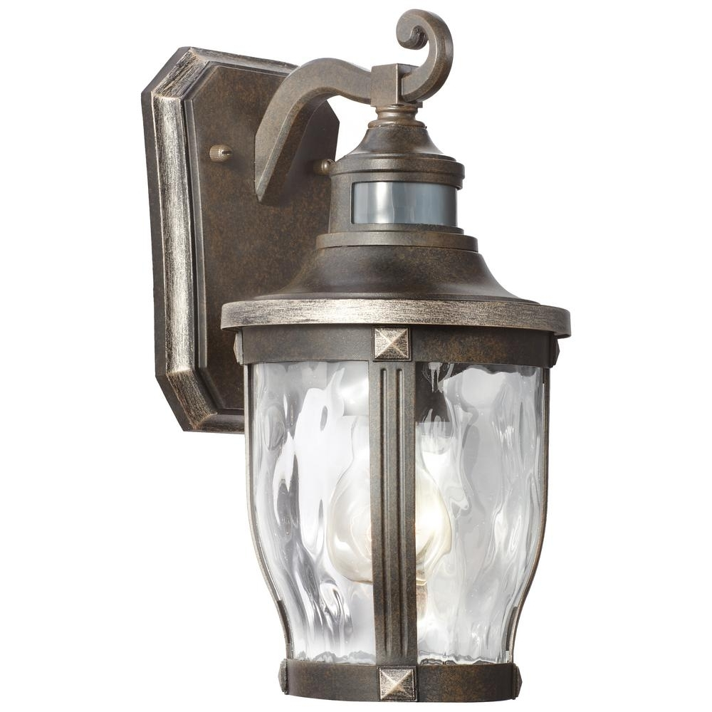 Favorite Outdoor Motion Lanterns Within Home Decorators Collection Mccarthy 1 Light Bronze With Gold (View 4 of 20)
