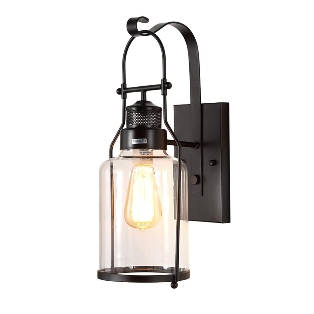 Favorite Outdoor Vintage Lanterns Inside Modern Wall Lamp Glass Cover Light Diy Lighting Cafe Art Home (View 20 of 20)