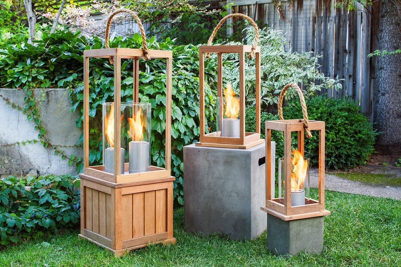 Favorite Outdoor Wood Lanterns For Sonoma 17 Inch Outdoor Lantern In Ipe Woodnorthcape Fire (View 9 of 20)