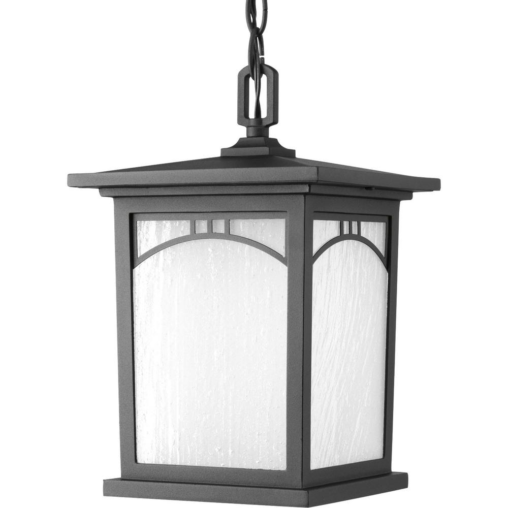 Favorite Progress Lighting Residence Collection 1 Light Textured Black Led Intended For Led Outdoor Hanging Lanterns (View 5 of 20)