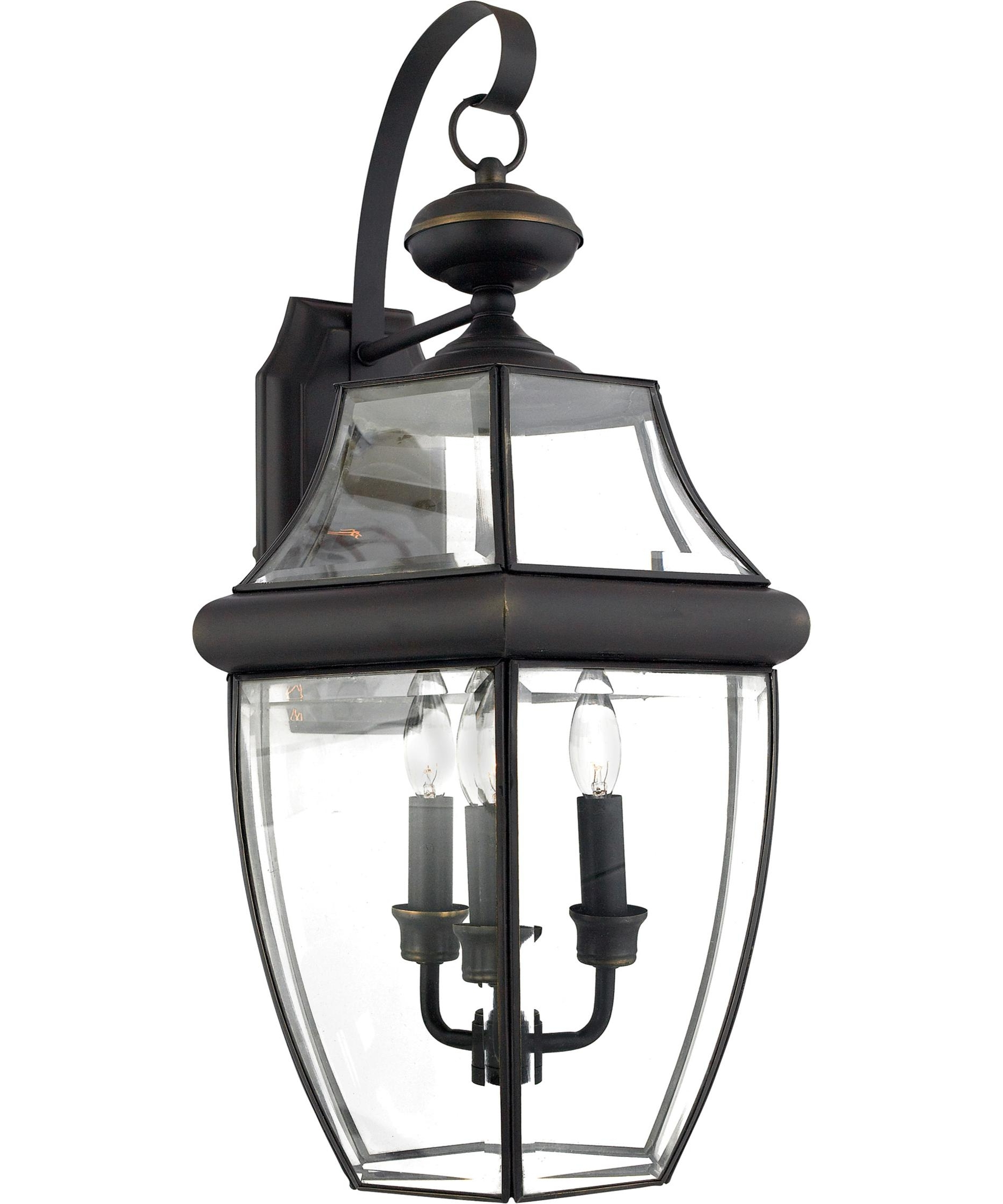 Favorite Quoizel Outdoor Lanterns Inside Quoizel Ny8318 Newbury 13 Inch Wide 3 Light Outdoor Wall Light (View 3 of 20)