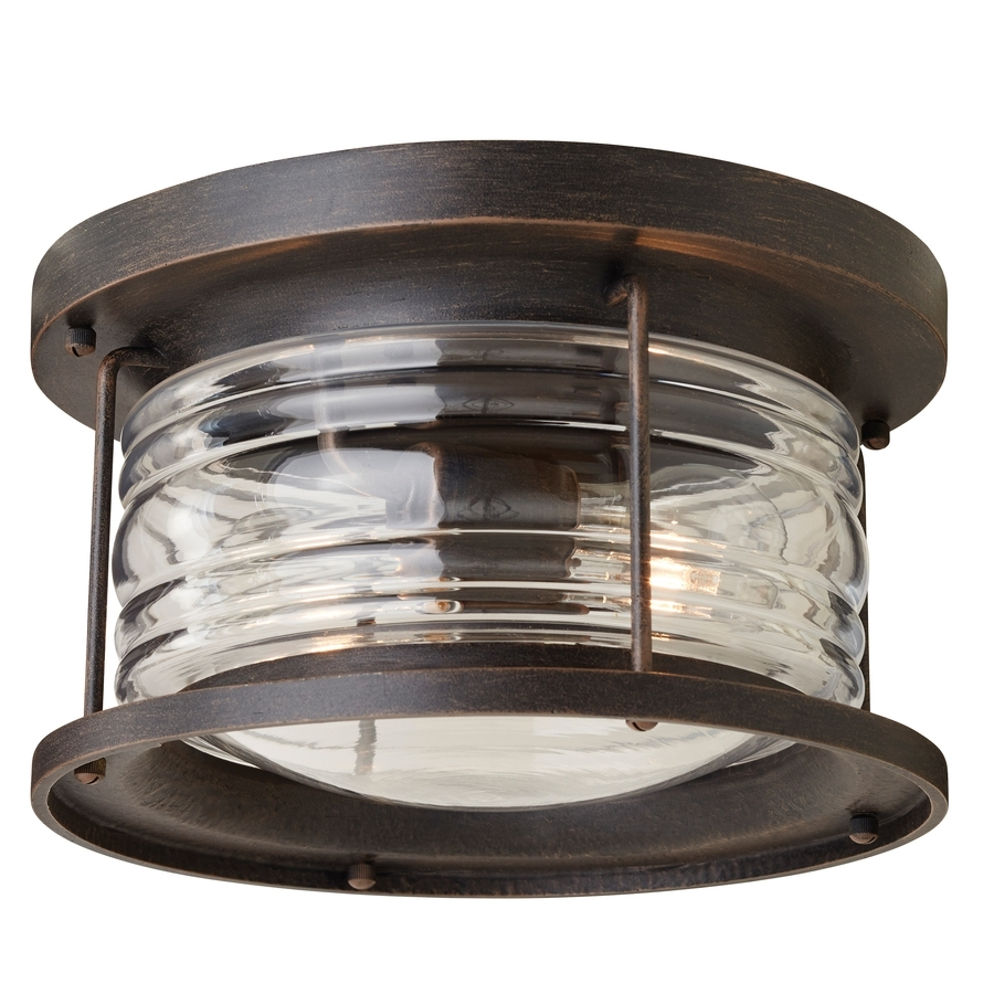Favorite Shop Outdoor Flush Mount Lights At Lowes With Regard To Outdoor Ceiling Fans With Motion Sensor Light (View 12 of 20)