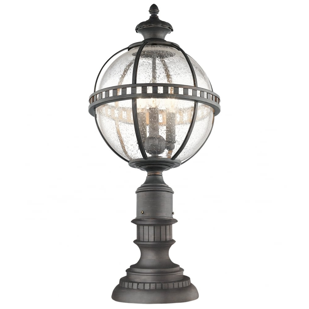 Favorite Victorian Globe Style Exterior Pedestal Lantern In Londonderry Finish With Regard To Victorian Outdoor Lanterns (Gallery 14 of 20)
