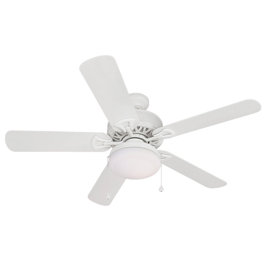 Favorite White Outdoor Ceiling Fans With Lights Pertaining To Shop Harbor Breeze 52 In Calera White Outdoor Ceiling Fan With Light (View 4 of 20)