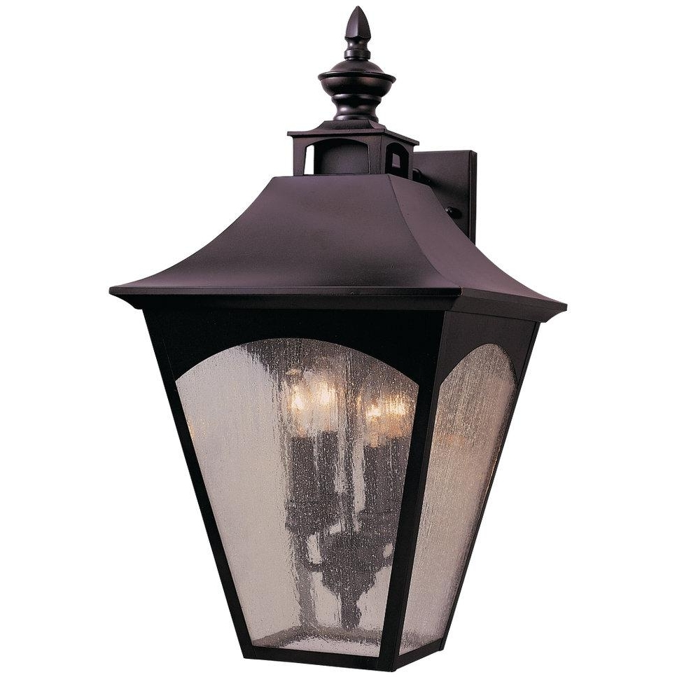 Feiss Homestead Four Light 25 Inch Outdoor Wall Lantern – Oil Rubbed For Most Recent Outdoor Oil Lanterns For Patio (View 15 of 20)