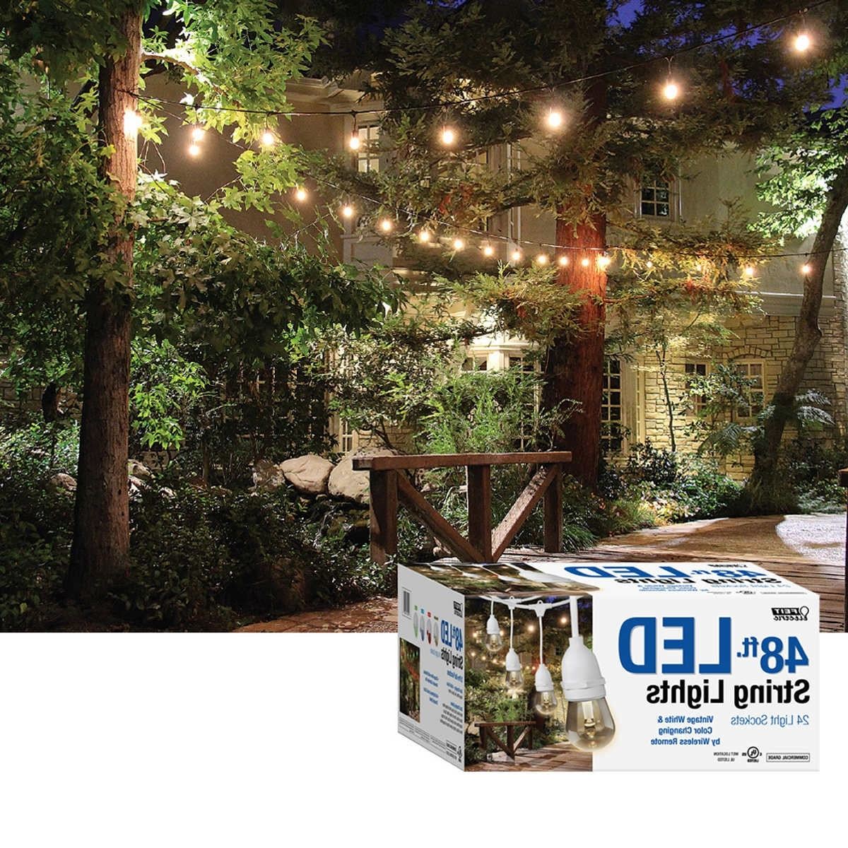 Feit Outdoor Weatherproof String Light Luxury Lovely Outdoor Lights Throughout Most Popular Outdoor Lanterns At Costco (View 17 of 20)