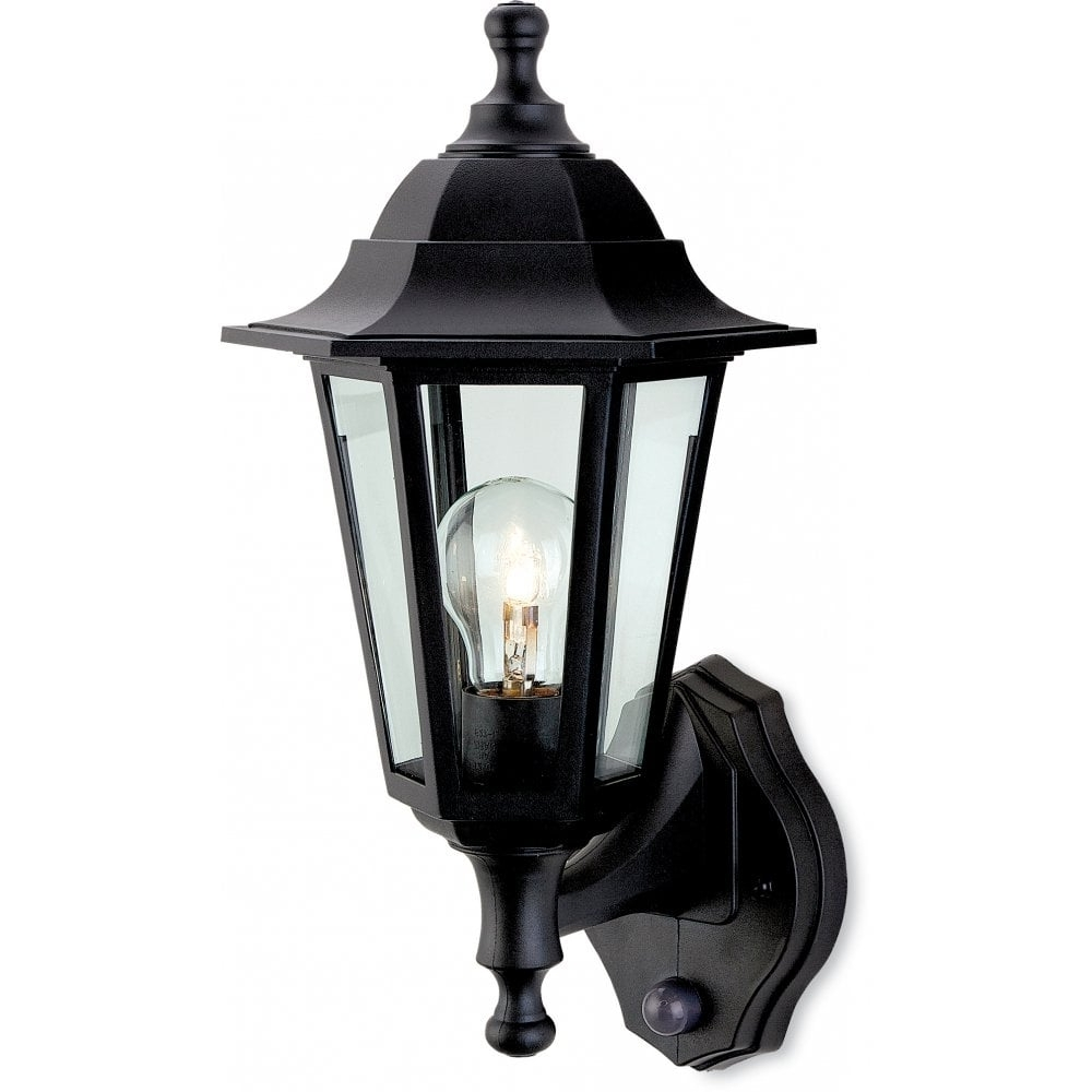 Firstlight Malmo Single Light Outdoor Wall Lantern In Black Finish Pertaining To Preferred Outdoor Lanterns With Pir (Gallery 9 of 20)
