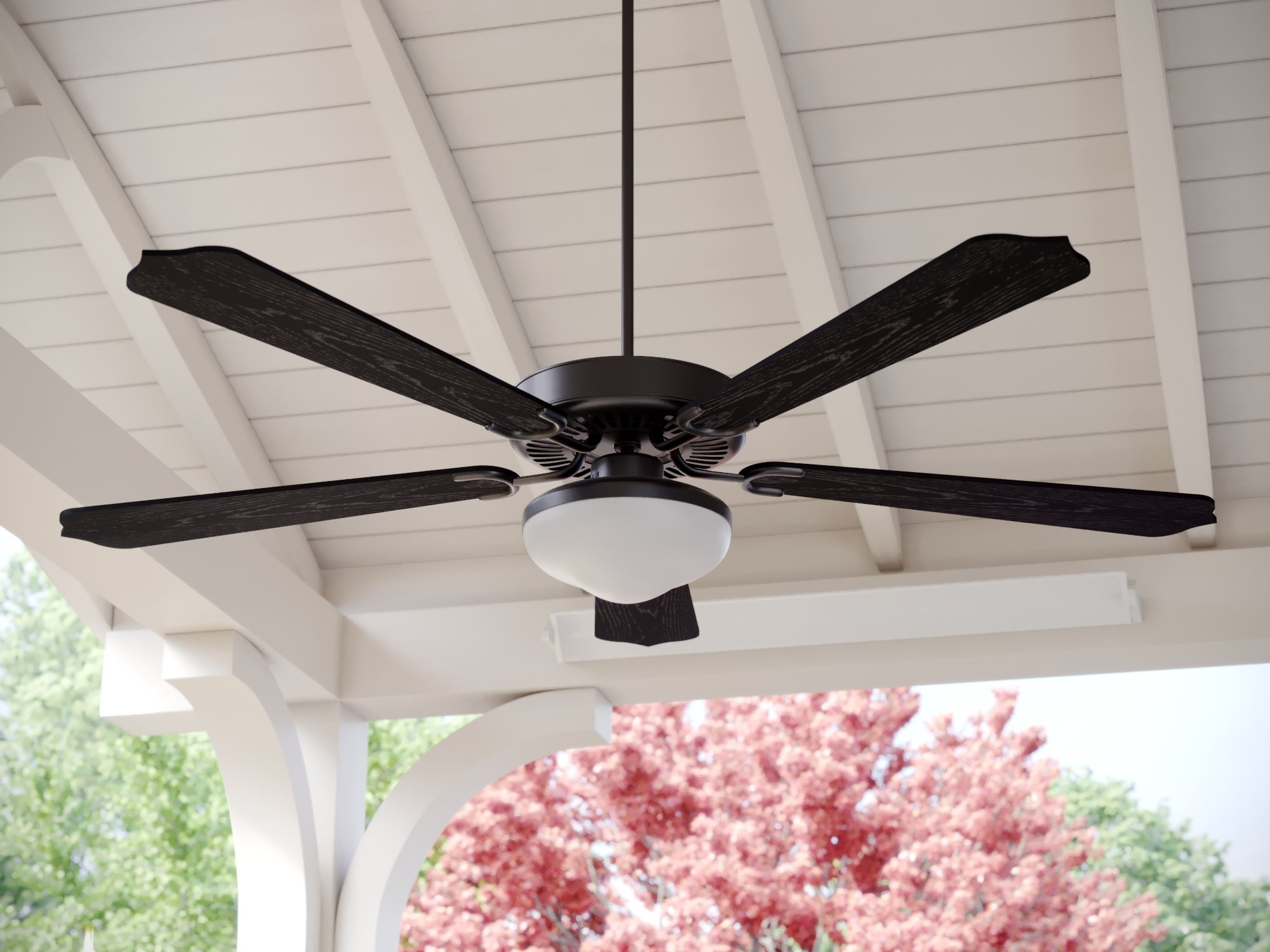 "Fleur De Lis Living 52"" Beaton 5 Blade Outdoor Ceiling Fan & Reviews Inside Current Wayfair Outdoor Ceiling Fans With Lights (View 6 of 20)"