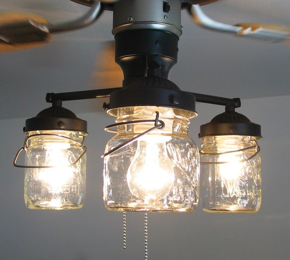 Featured Photo of Outdoor Ceiling Fans With Mason Jar Lights