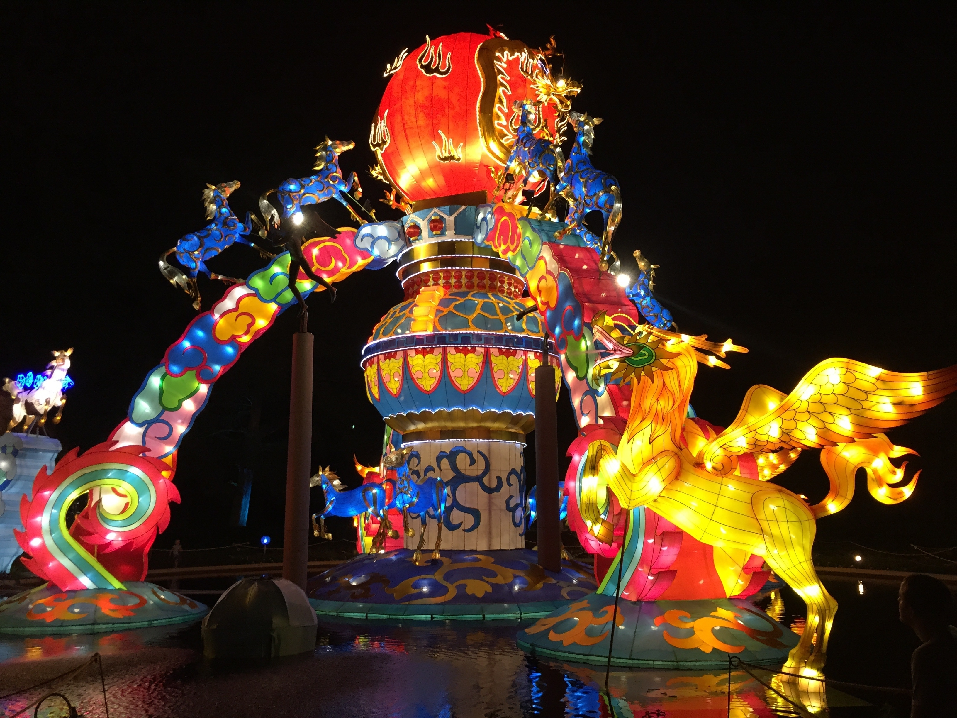 Free Images : Outdoor, Celebration, Golden, Red, Amusement Park In Well Known Outdoor Oriental Lanterns (View 2 of 20)