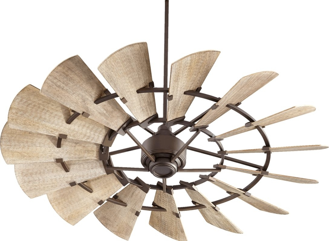 Froid 60″ Windmill 15 Blade Ceiling Fan – Farmhouse Touches Within Favorite Outdoor Windmill Ceiling Fans With Light (View 8 of 20)