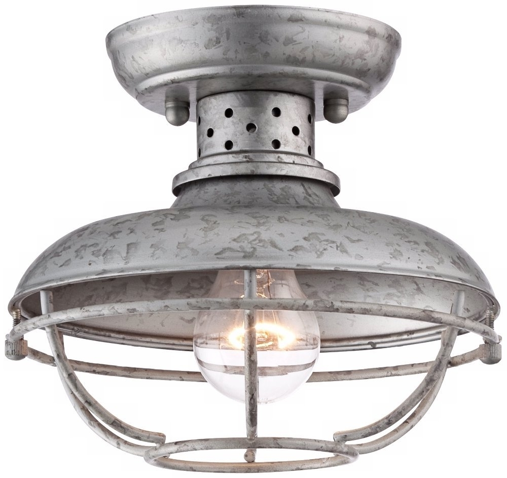 Galvanized Ceiling Light Cute Home Depot Ceiling Fans With Lights With 2018 Galvanized Outdoor Ceiling Fans (Gallery 18 of 20)