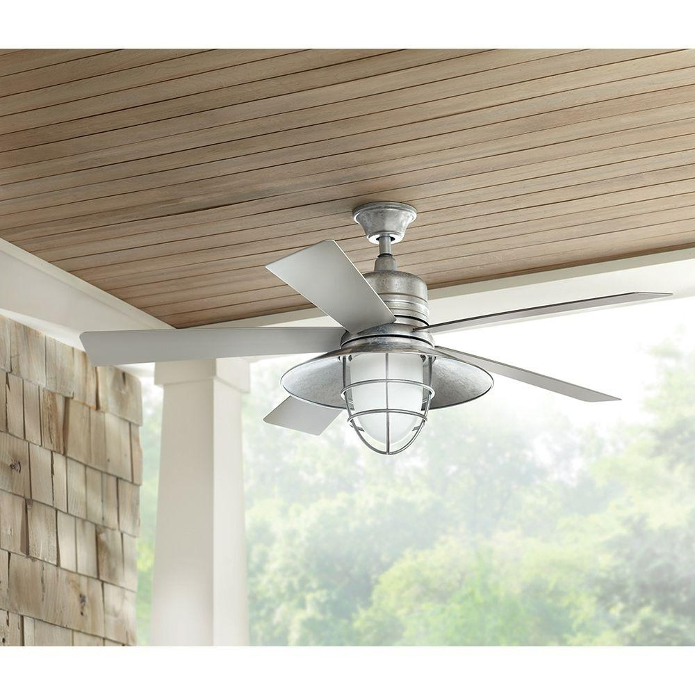 Galvanized Indoor Outdoor Ceiling Fan – Outdoor Ideas Intended For Newest Galvanized Outdoor Ceiling Fans With Light (View 8 of 20)