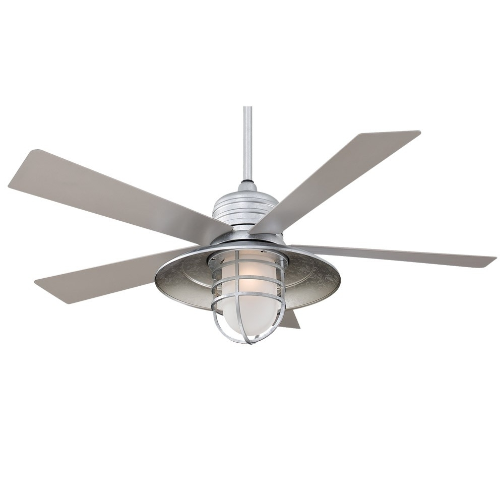 "Galvanized Outdoor Ceiling Fans Pertaining To Popular 54"" Rainman Ceiling Fanminka Aire – Outdoor Wet Rated – F582 Gl (Gallery 3 of 20)"