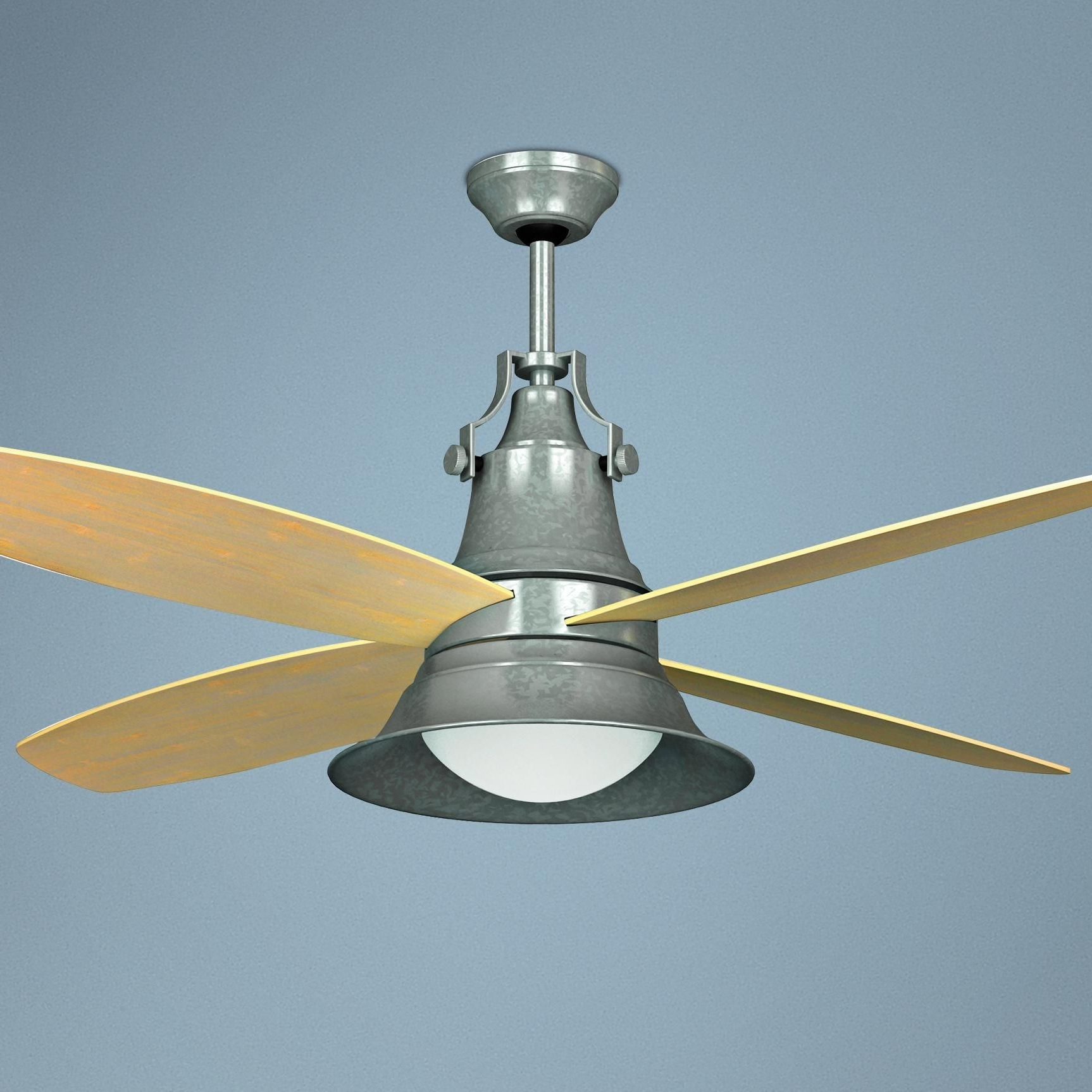 "Galvanized Outdoor Ceiling Fans With Light Inside Best And Newest 52"" Craftmade Union Galvanized Wet Location Ceiling Fan (Gallery 19 of 20)"