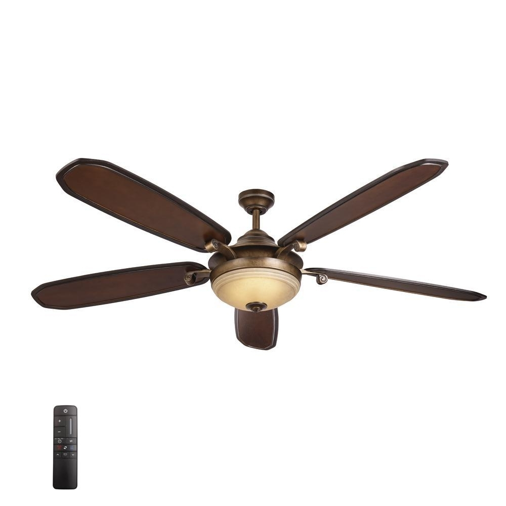 Galvanized Outdoor Ceiling Fans With Light Regarding Favorite Home Decorators Collection Grayton 54 In. Led Indoor/outdoor (Gallery 16 of 20)