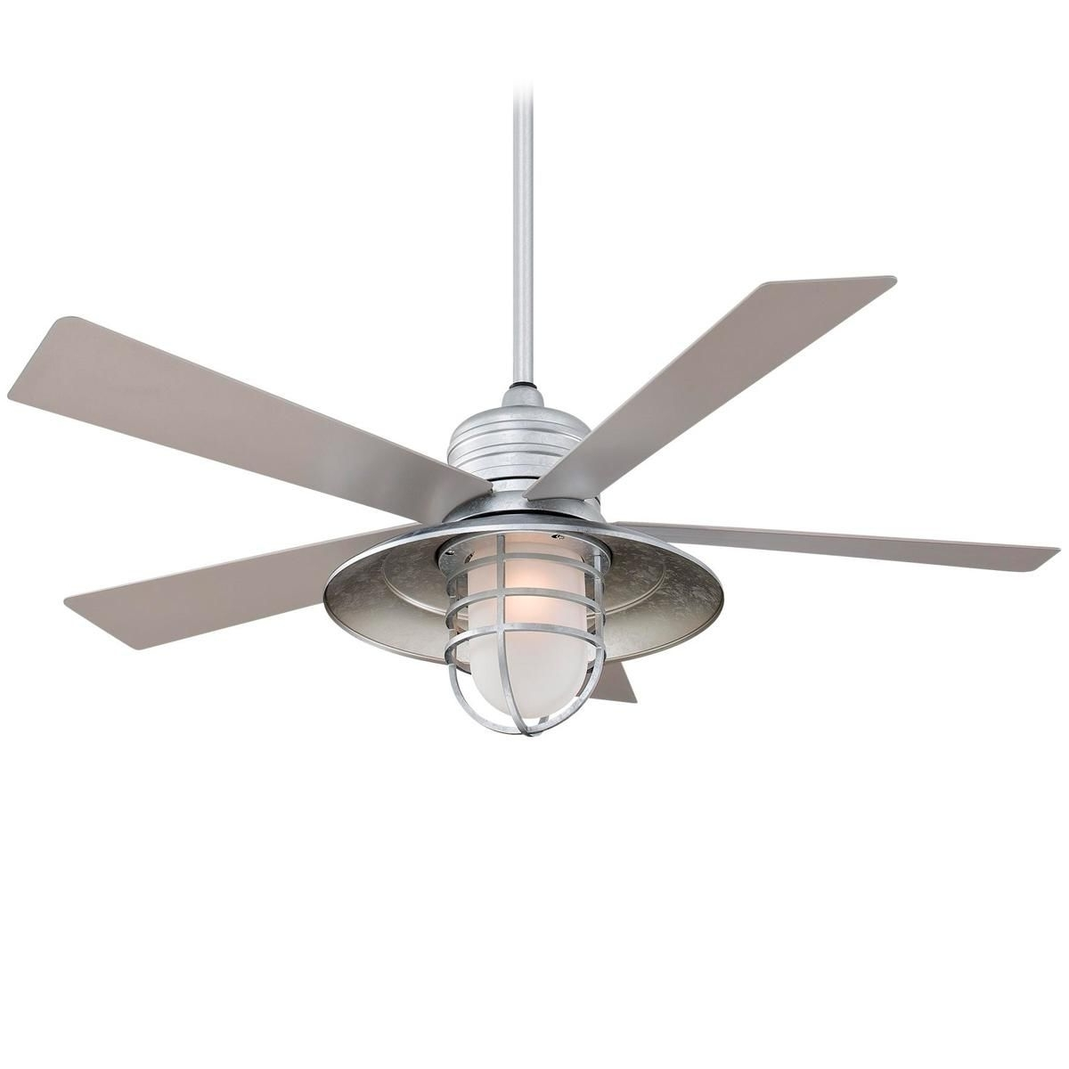 "Galvanized Outdoor Ceiling Fans With Light Throughout Widely Used 54"" Indoor/outdoor Boardwalk Ceiling Fan (Gallery 2 of 20)"