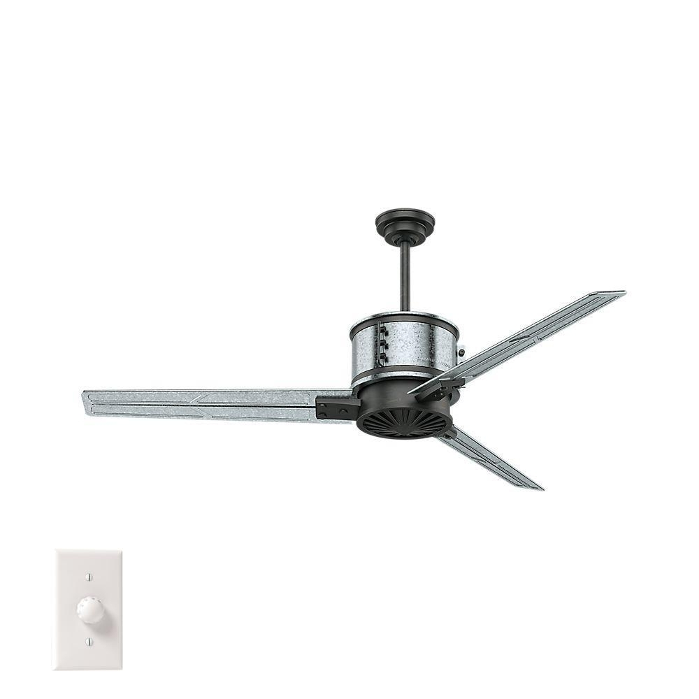 Galvanized Outdoor Ceiling Fans Within Most Up To Date Ceiling Fans At The Home Depot (View 6 of 20)