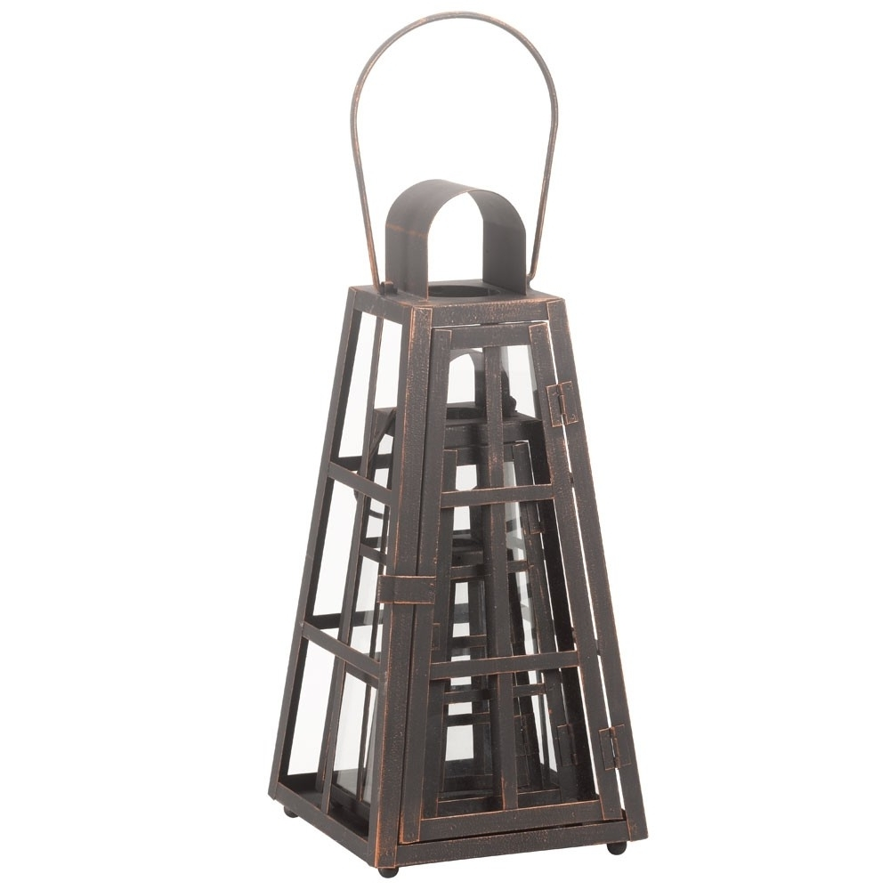 Garden Lanterns Alexandria 3 Pack Intended For Best And Newest Resin Outdoor Lanterns (Gallery 16 of 20)