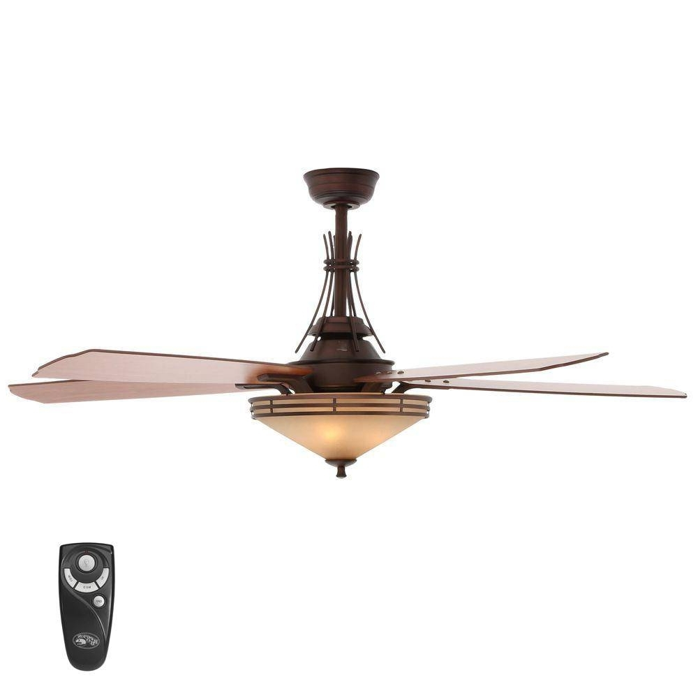 Gazebo Hampton Bay Ceiling Fan Unique Bronze Outdoor – Exirime (View 5 of 20)