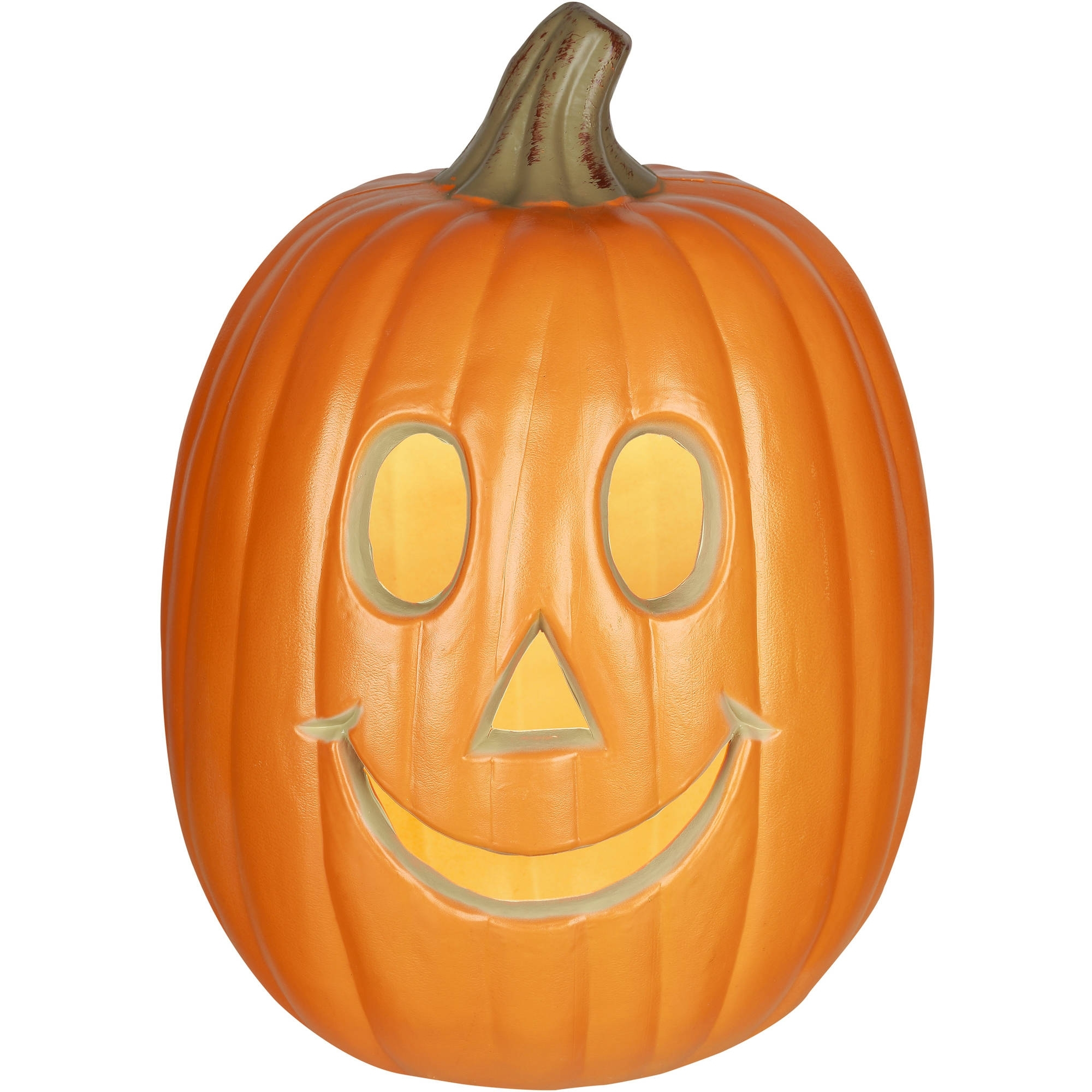 "Gemmy Lighted Jack O Lantern 12"" Happy Pumpkin Halloween Decoration Intended For Most Popular Outdoor Pumpkin Lanterns (Gallery 18 of 20)"