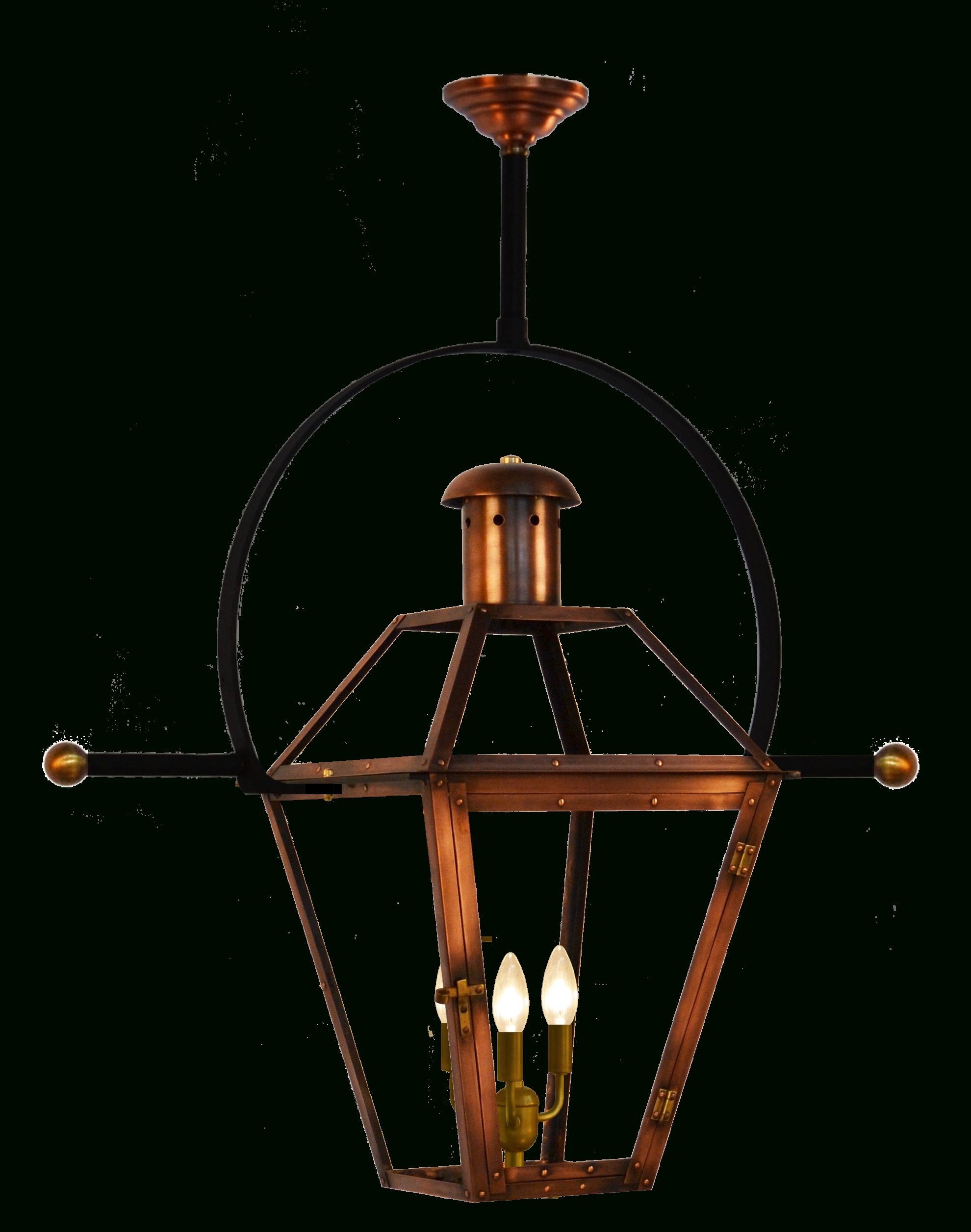 Georgetown Gas Or Electric Copper Lantern With Classic Yoke And For Most Popular Copper Outdoor Electric Lanterns (View 7 of 20)