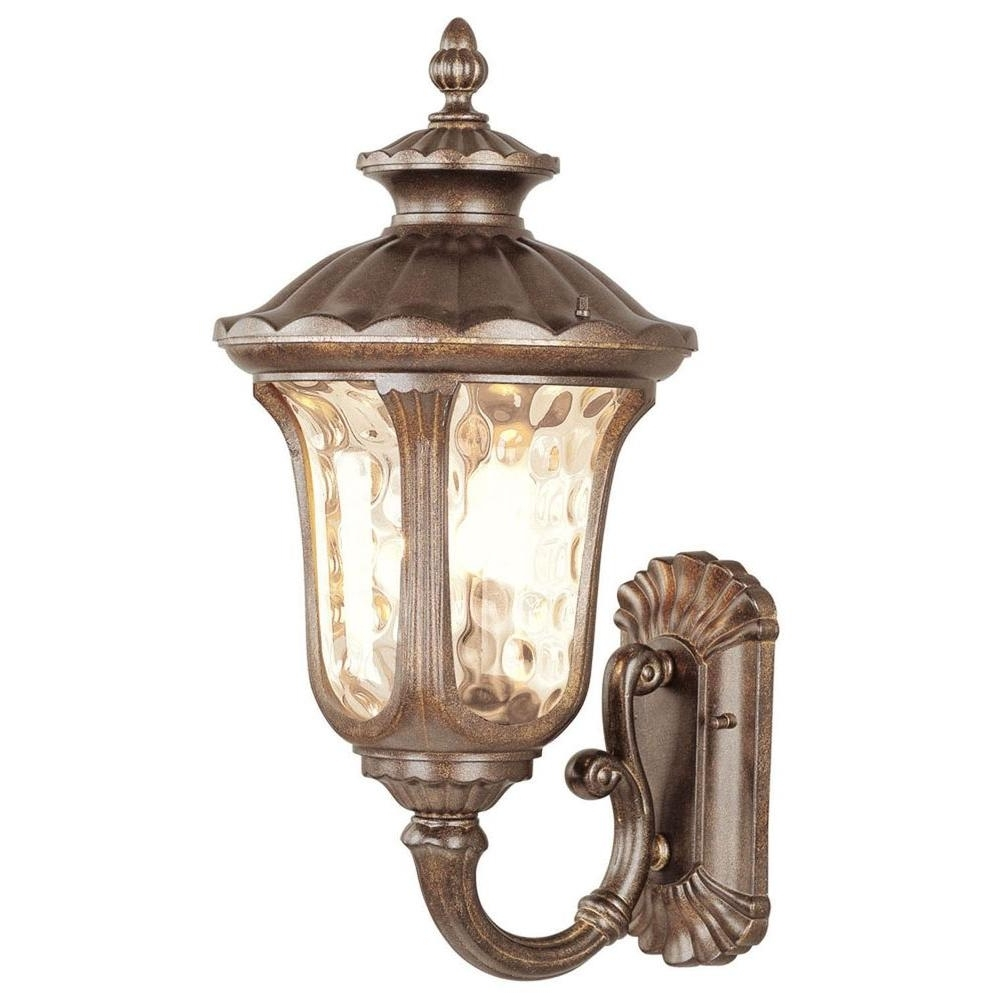 Gold Outdoor Lanterns Inside Well Known Livex Lighting Providence Wall Mount 3 Light Moroccan Gold Outdoor (View 11 of 20)