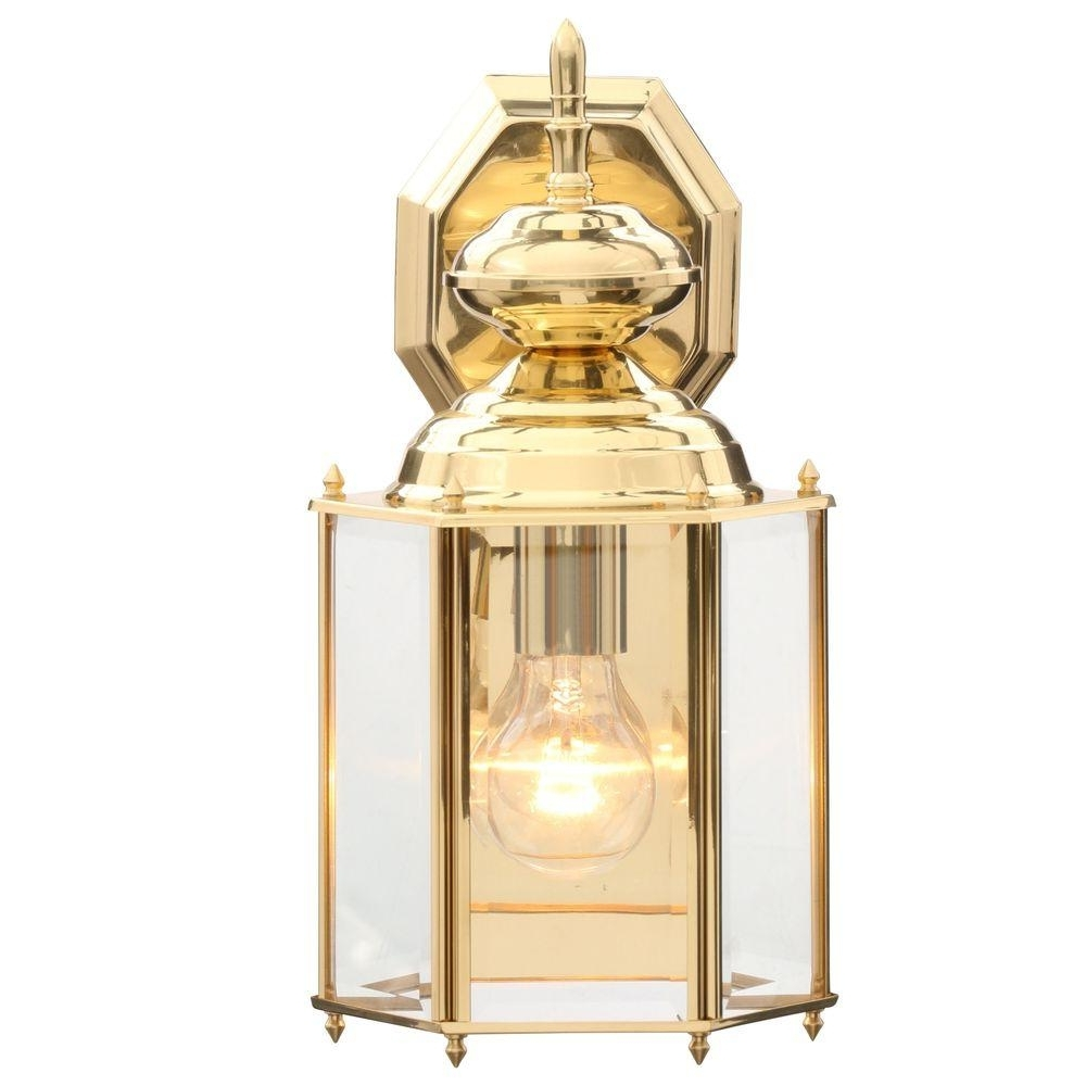 Gold Outdoor Lanterns Pertaining To Newest Brass & Gold – Outdoor Wall Mounted Lighting – Outdoor Lighting (Gallery 1 of 20)