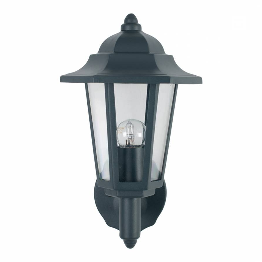 Grey 6 Sided Lantern Outdoor Wall Light – Brandalley For Current Outdoor Grey Lanterns (View 19 of 20)