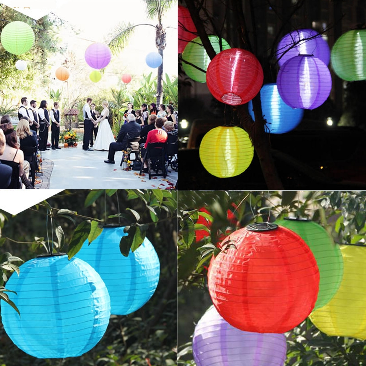 Halloween Party Led Nylon Lantern 44cm Outdoor Solar Power Chinese Inside Popular Outdoor Nylon Lanterns (View 11 of 20)