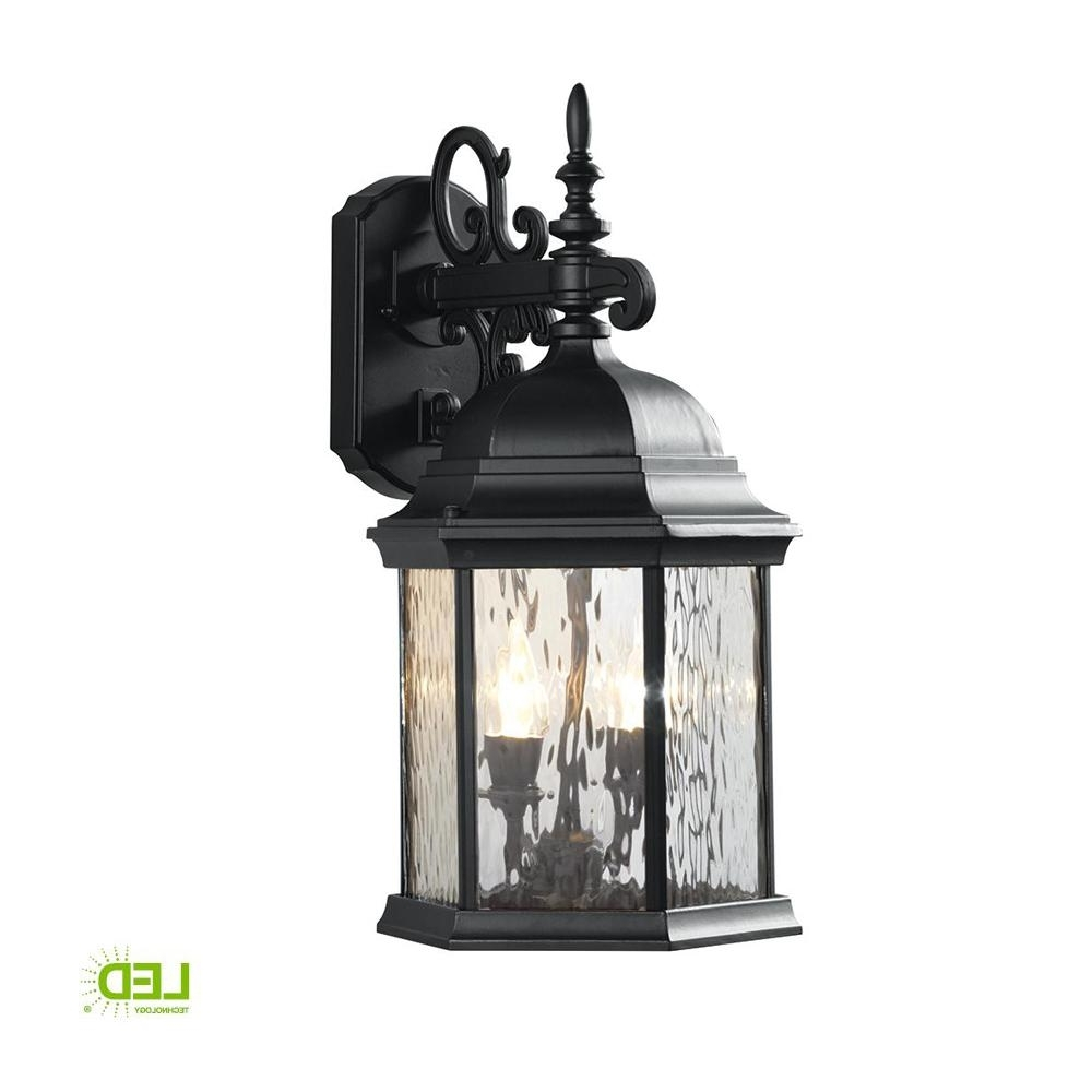 Hampton Bay 9.5 In. 2 Light Oil Rubbed Bronze Led Decorative Water In Current Outdoor Lanterns Without Glass (Gallery 2 of 20)