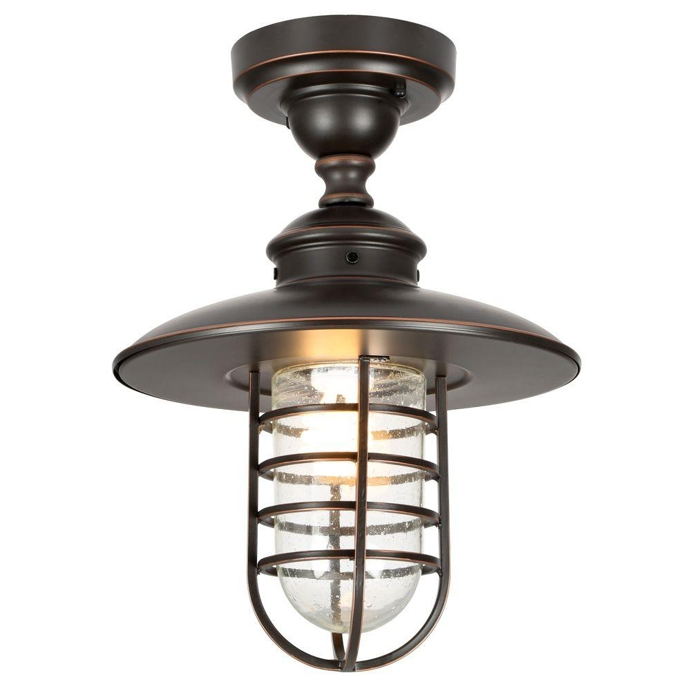 Hampton Bay Dual Purpose 1 Light Outdoor Hanging Oil Rubbed Bronze Intended For Favorite Outdoor Hanging Oil Lanterns (View 3 of 20)