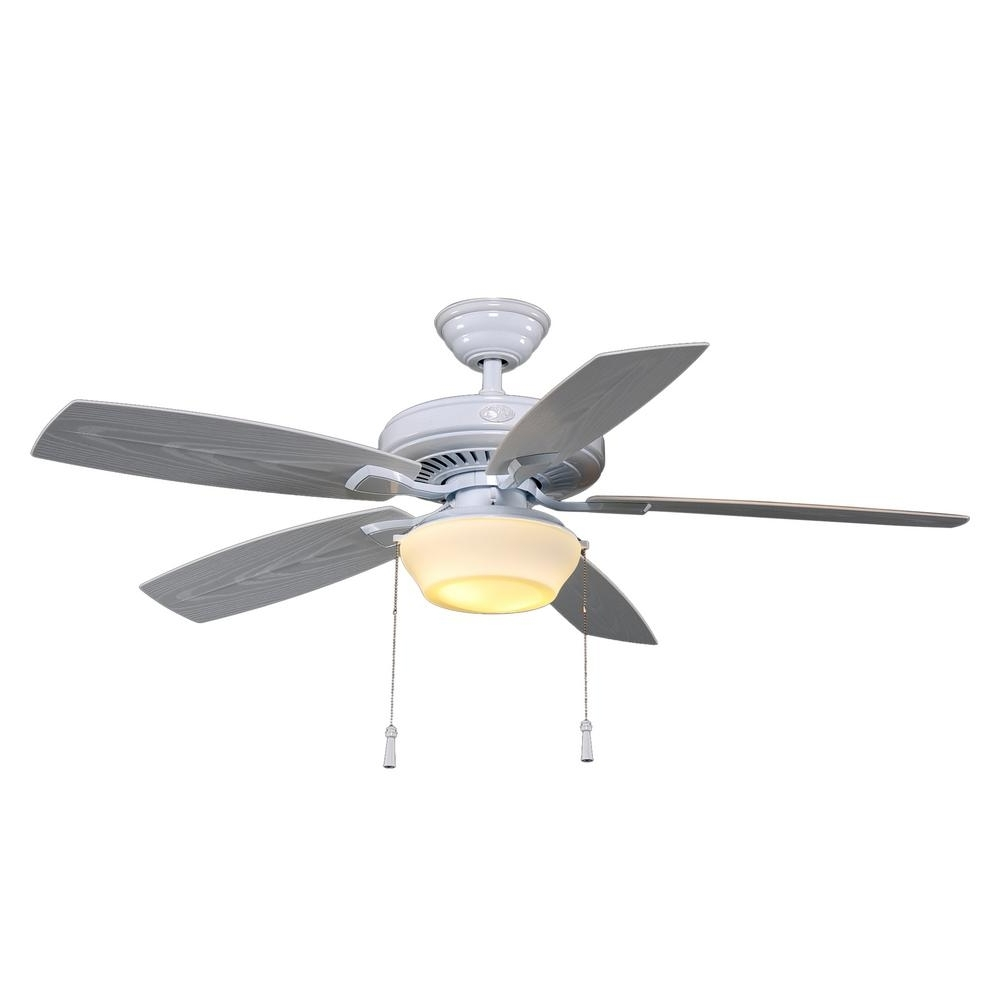Hampton Bay Gazebo 52 In. Led Indoor/outdoor White Ceiling Fan With Throughout 2018 Outdoor Ceiling Fans For Gazebo (Gallery 12 of 20)
