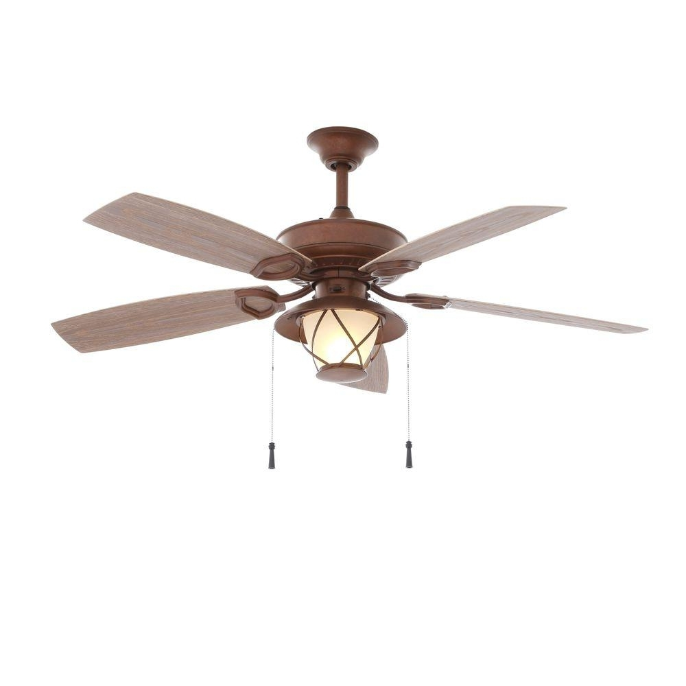 Hampton Bay Glacier Bay 52 In. Indoor/outdoor Rustic Copper Ceiling For Most Current Rustic Outdoor Ceiling Fans With Lights (Gallery 15 of 20)